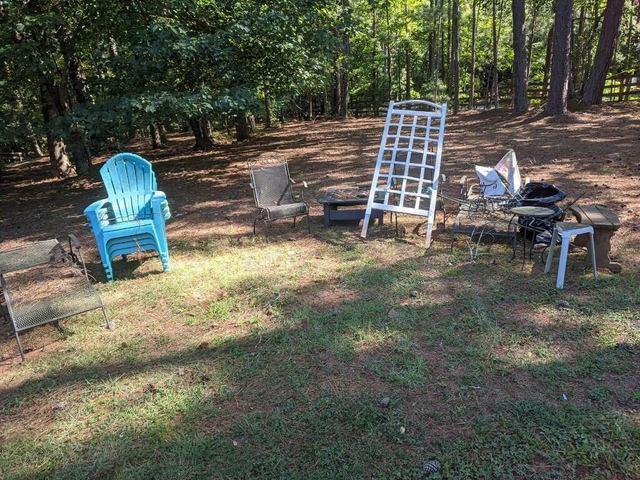 Outdoor furniture removal in Cumming, Georgia.
