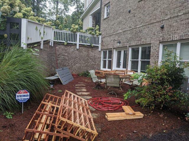 Back yard junk removal in Suwanee, GA