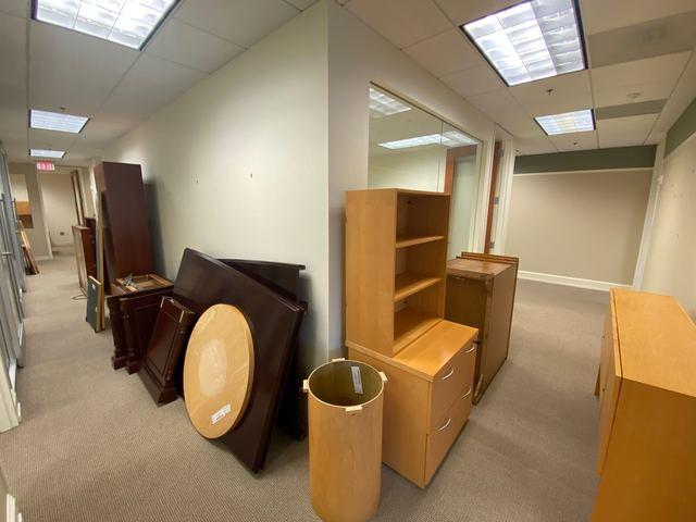 Full office furniture clean-out and removal in Atlanta, Georgia.