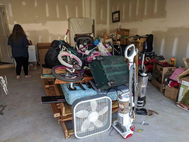 Garage cleanup and donation in Cumming, Georgia.