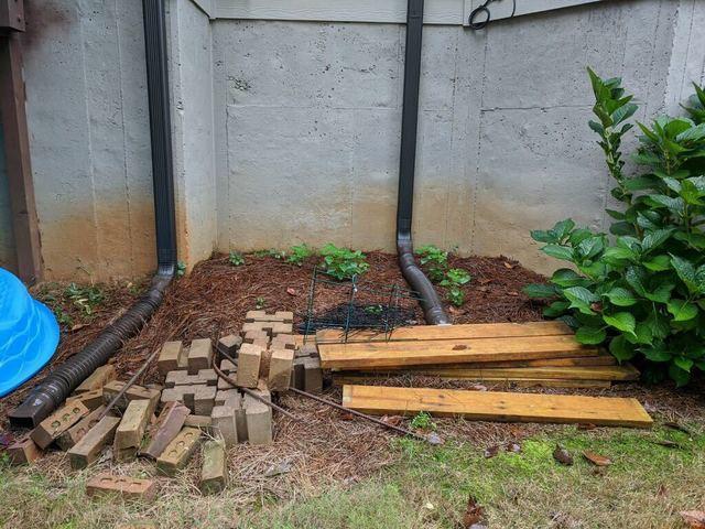 Bricks and wood removal in Cumming, Georgia.