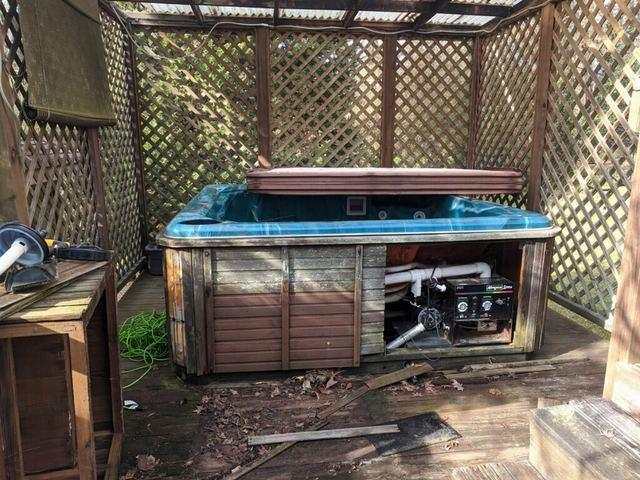 Hot tub removal in Atlanta, Georgia.