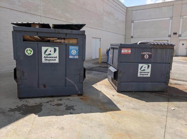 Dumpster Area Cleanup in Alpharetta, Georgia