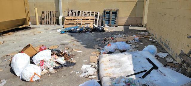 Dumpster area cleanup in Atlanta, Georgia.