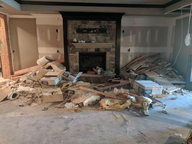 Construction debris from remodel in Alpharetta, GA