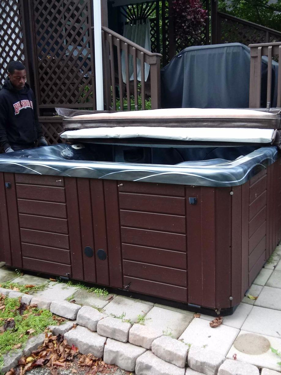 Hot Tub Removal in Flourtown, PA - Before Photo
