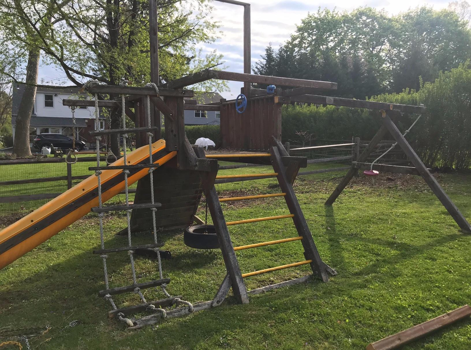 Playset Removal in Elkins Park, PA - Before Photo