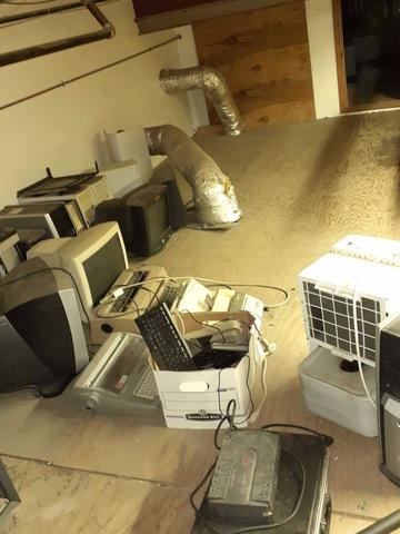 Electronic Recycling - Before Photo