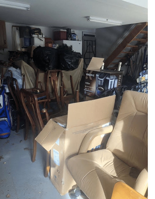 Garage Cleanout in Brielle, NJ - Before Photo