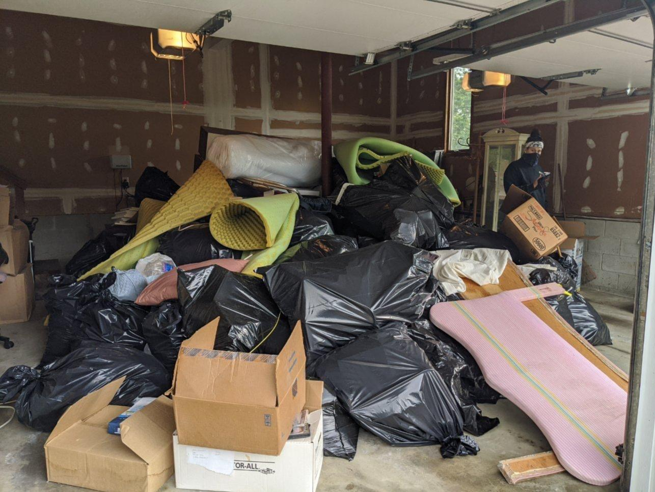 Garage Cleanout in Holmdel, NJ - Before Photo