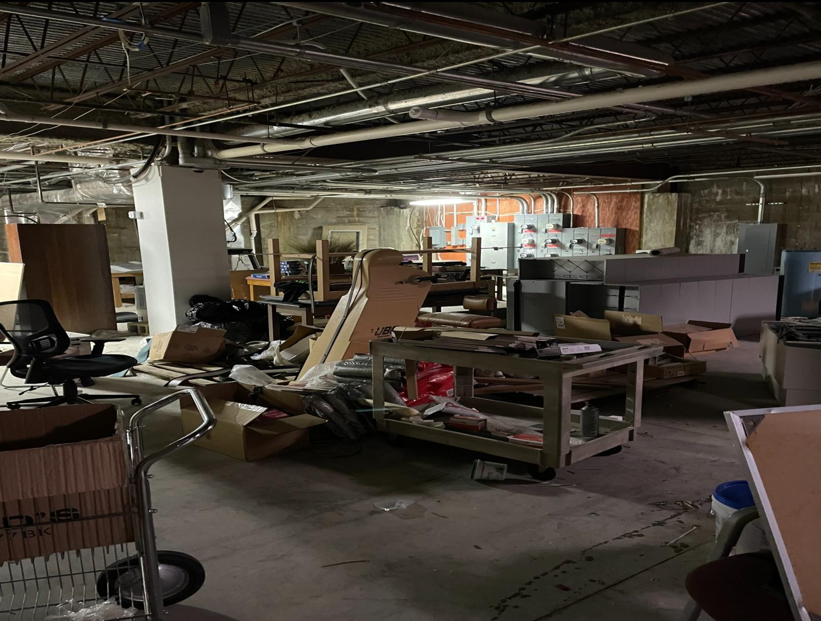 Medical Office Basement Cleanout Brick Township, NJ - Before Photo