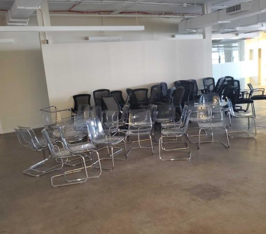 Removing office chairs to be donated in Long Island City, NY