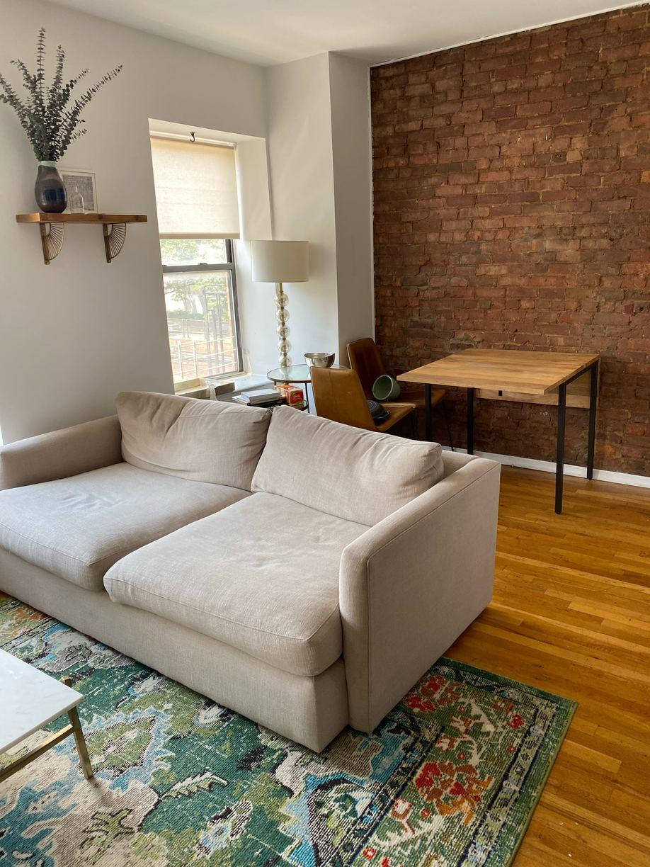 Couch, Desk & Coffee Table Donation in Red Hook, Brooklyn, NY - Before Photo