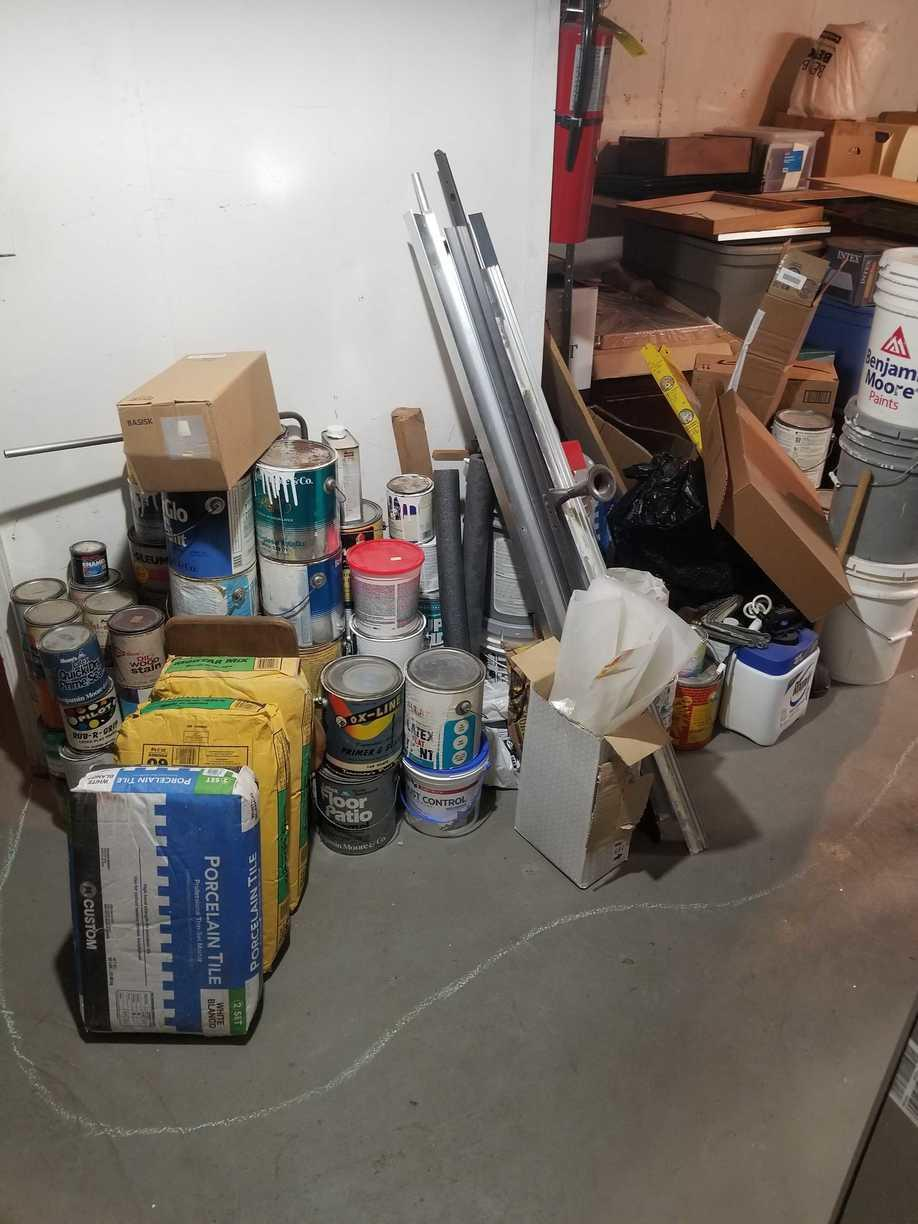 Paint & Construction Debris Cleanup in Red Hook, Brooklyn, NY - Before Photo