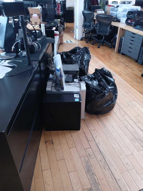 Same Day Electronics and E-Waste Pick Up - Tribeca, NY - Before Photo