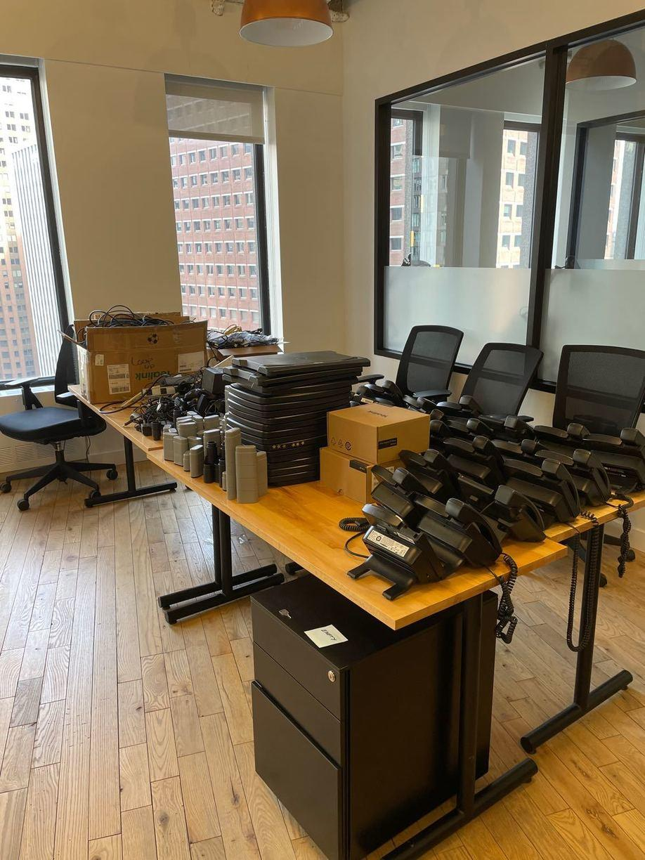 Office E-Waste Cleanout - Financial District NY, NY - Before Photo