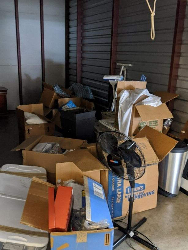 Storage Unit Clear Out Cary, NC - Before Photo