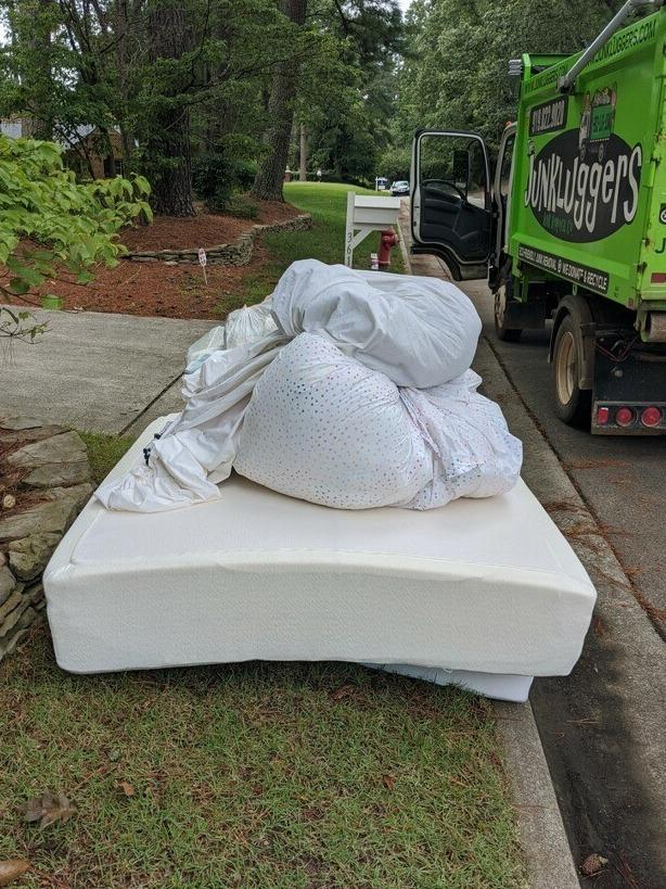 Curbside Mattress Pick Up in Durham, NC - Before Photo