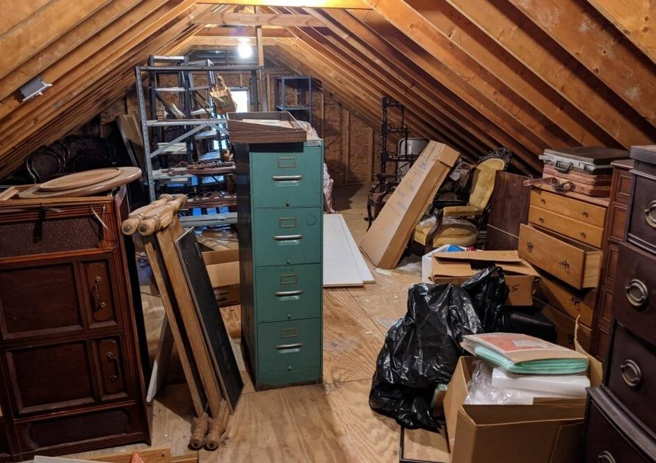 Attic Clean Out in Chapel Hill, NC - Before Photo