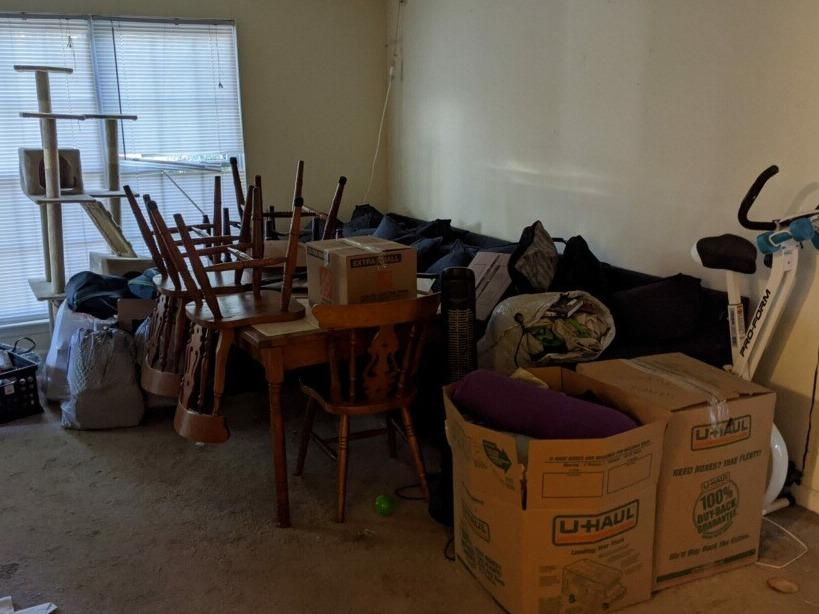 Household Junk & Furniture Pickup in Raleigh, NC - Before Photo