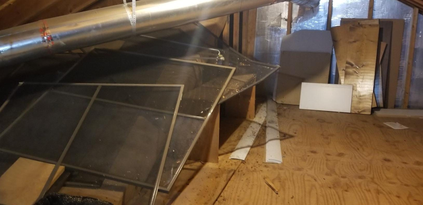 Attic Cleanout for a Satisfied Customer in Chapel Hill, NC - Before Photo