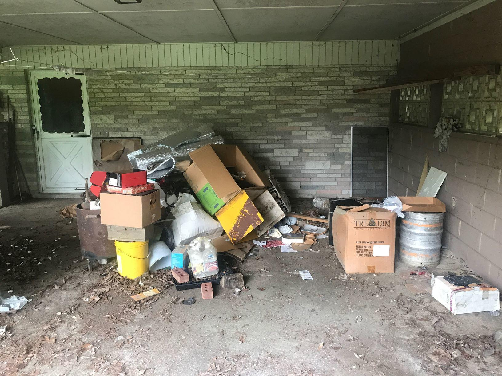 Garage Cleanout in Apex, NC - Before Photo