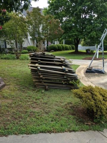 Wood Fencing Cleanup in Holly Springs, NC