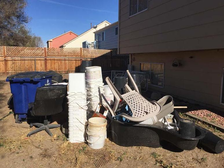 Yard & construction debris clean up in Mechanicsville, VA - Before Photo