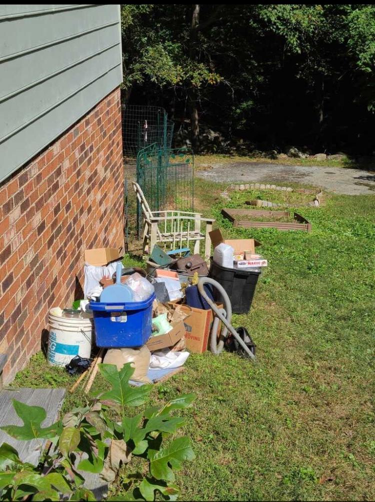 Yard Cleanup?! Call the JunkLuggers!!! - Before Photo