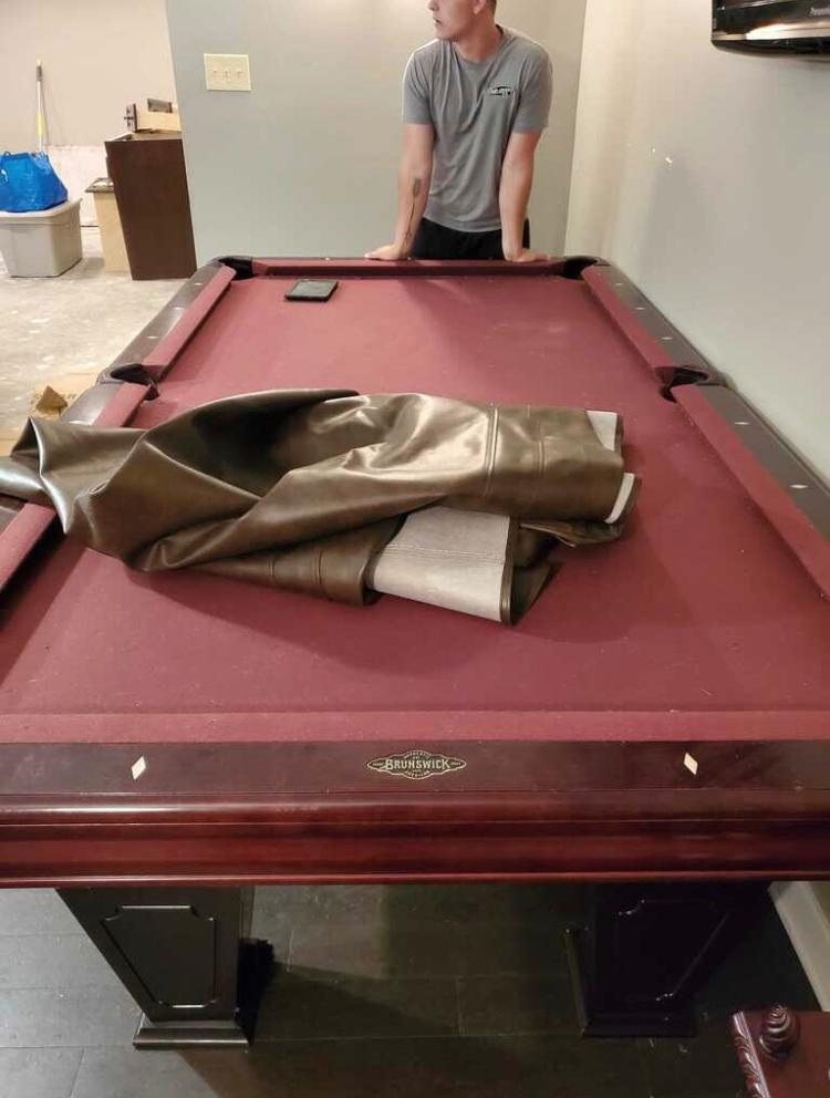 Need a Pool Table broken down, removed, and then DONATED?! - Before Photo