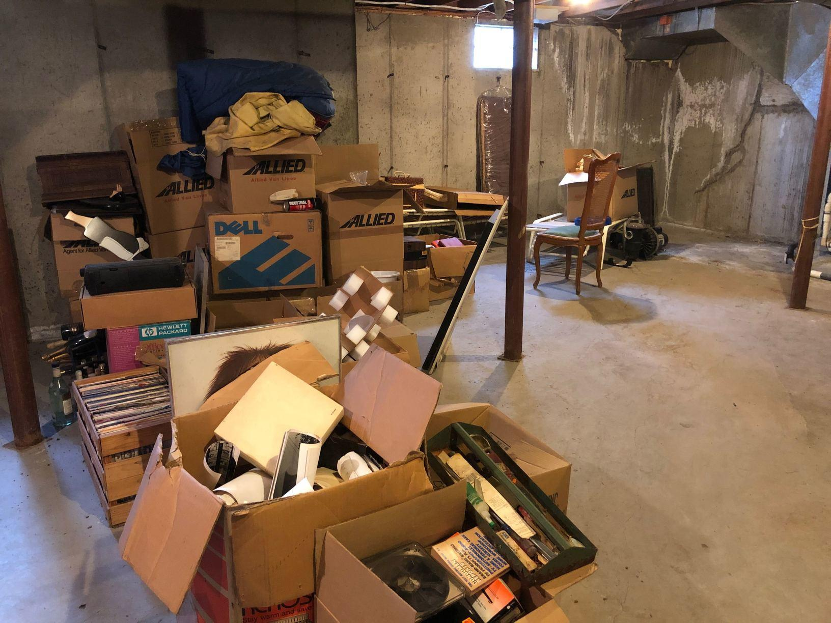 Basement Clean out - Newtown CT - Before Photo