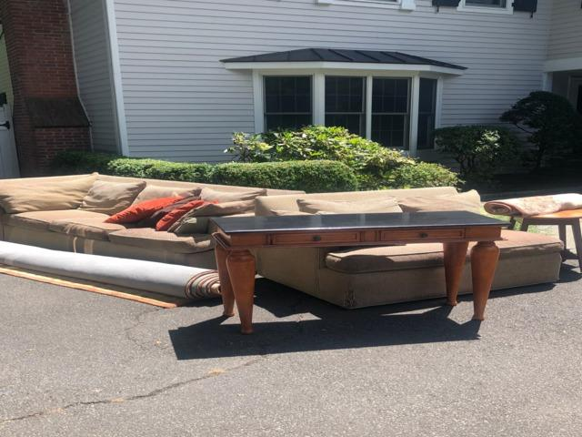 Outdoor Removal in Darien, CT - Before Photo