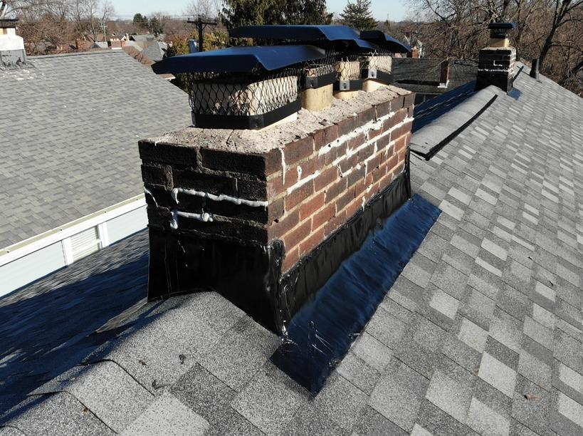 Chimney Flashing in Columbus, OH - After Photo