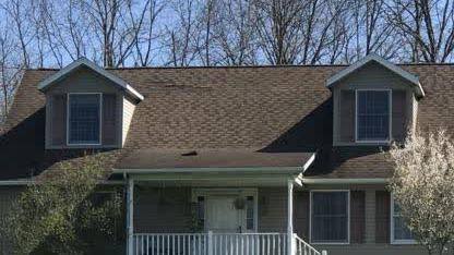 Roof Replacement in Albany, OH - Before Photo