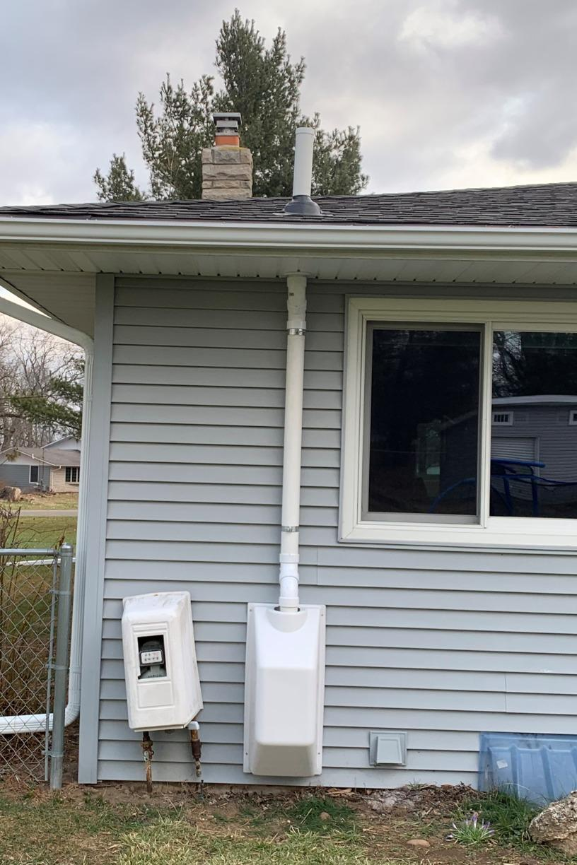 Radon Mitigation - Marshall, MI - After Photo