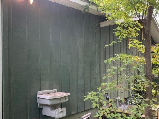 Radon Mitigation - Exterior Aesthetic Package / Delton, MI - Before Photo