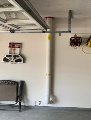 Garage Radon Vent Pipe - Portage, MI - After Photo
