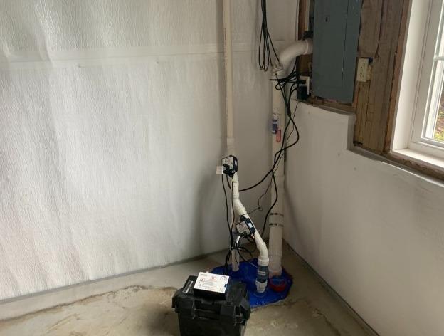 Sump Radon Depressurization in Schoolcraft, MI - After Photo