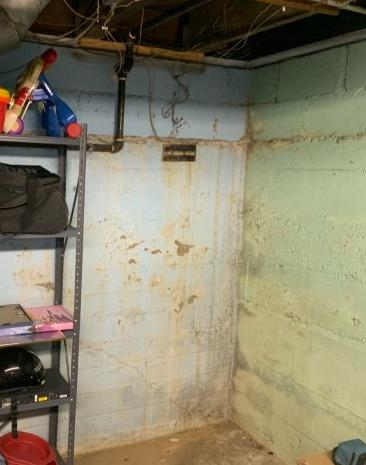 Radon Extraction Point in Richland, MI - Before Photo