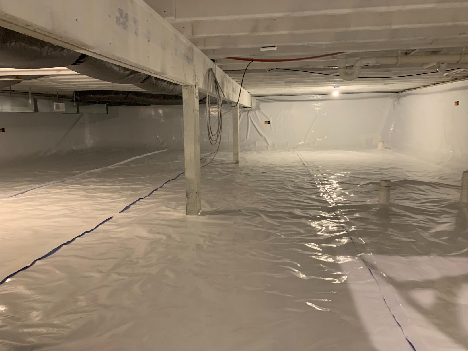 Sub Membrane Depressurization in Lansing, MI - After Photo