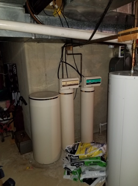 Purcellville, VA. New Water Softener for Hardness - Before Photo
