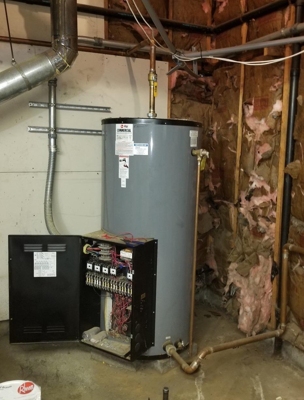 Leesburg, VA Water Heater Replacement. - Before Photo
