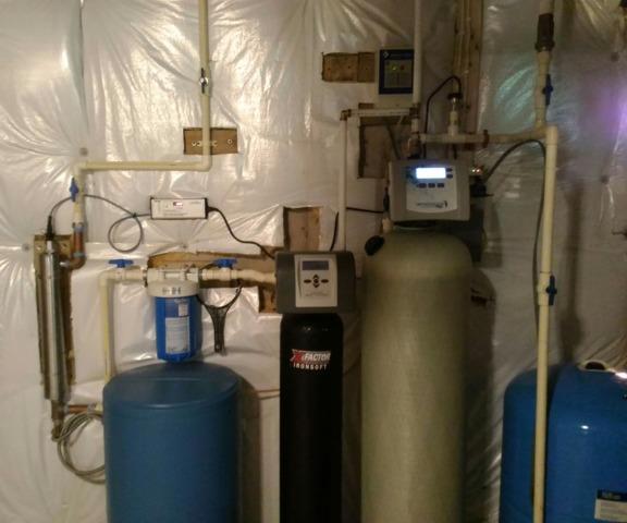 Lovettsville, VA. Water Treatment for Iron Staining.