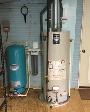 Purcellville, VA. Well Water Pressure tank and Sediment Filter