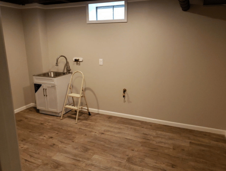 A Beautiful Finished Basement in Elyria, Ohio - After Photo
