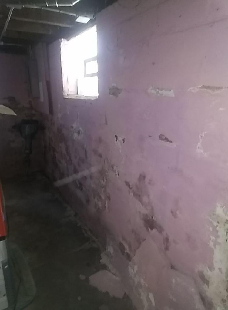 CleanSpace® Wall Barrier Restore a Minerva, Ohio Basement - Before Photo