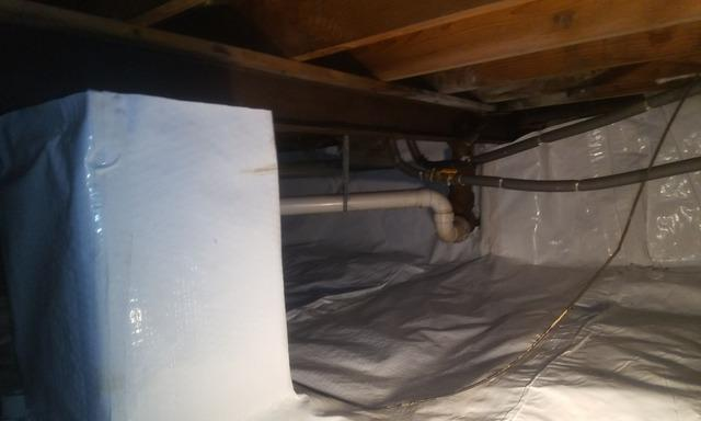 Completed Crawl Space in Willoughby, Ohio