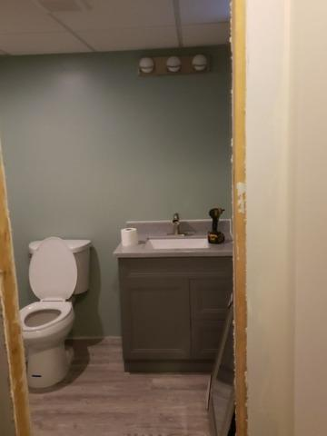 New Bathroom in Hiram, Ohio Finished Basement