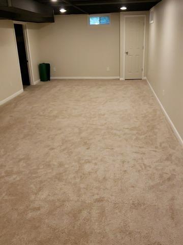 New Rec Room in Wilmot, Ohio Basement