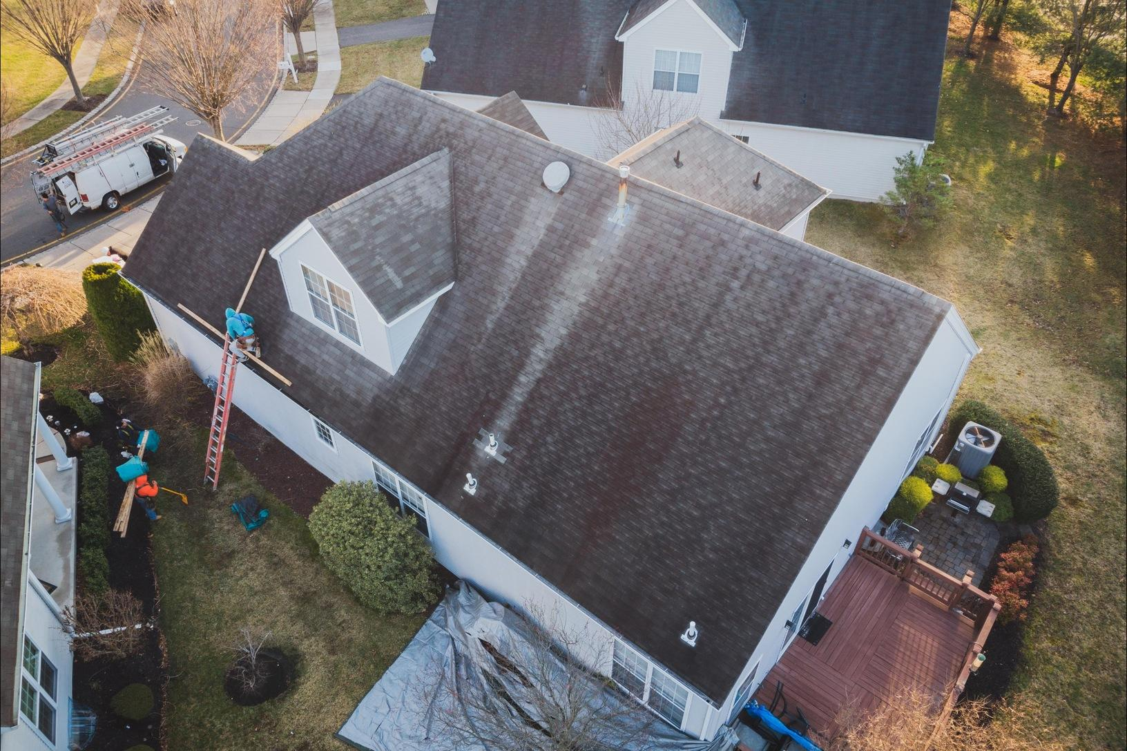 New Roof Installed In West Windsor, NJ - Before Photo